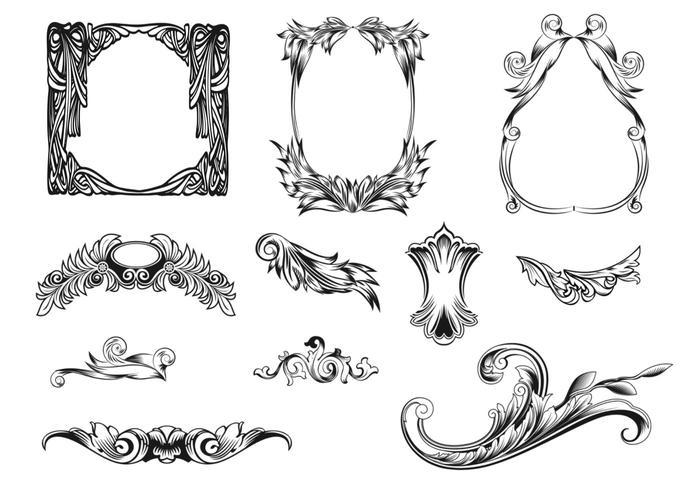 Feathered Frames Brush Pack