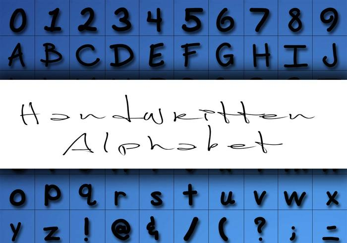 Handwritten Alphabet Brushes