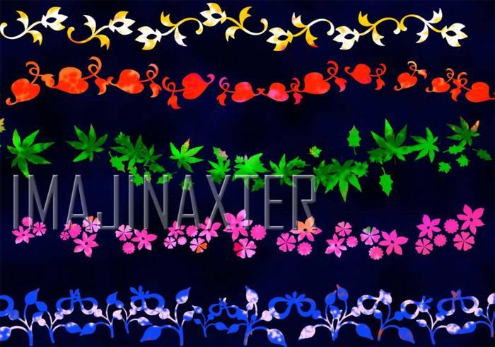 Pinceles para flores
