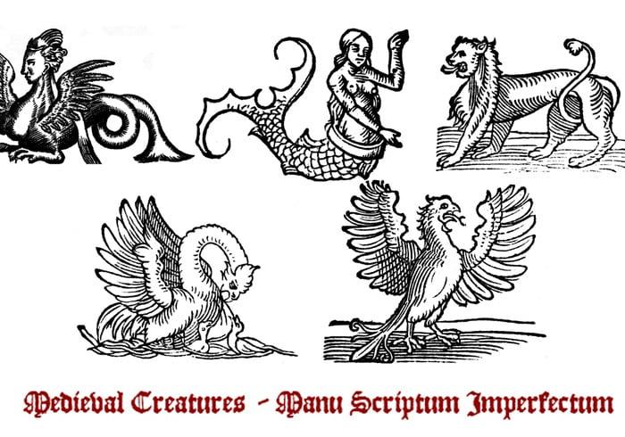 Pinceaux de créature médiévale