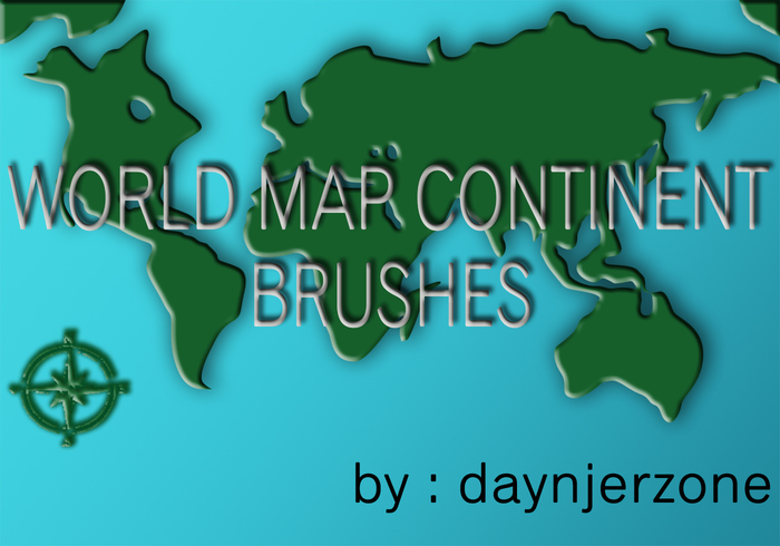 World Map Continent Brushes