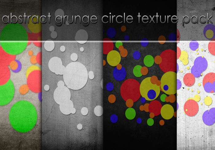 Abstract Grunge Circle Texture Pack