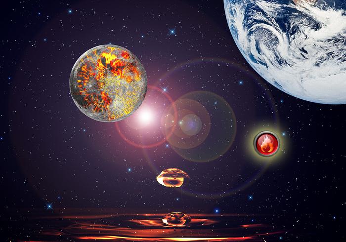Fantasifull rymdlandskap