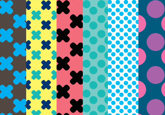 Dots & Crosses Muster