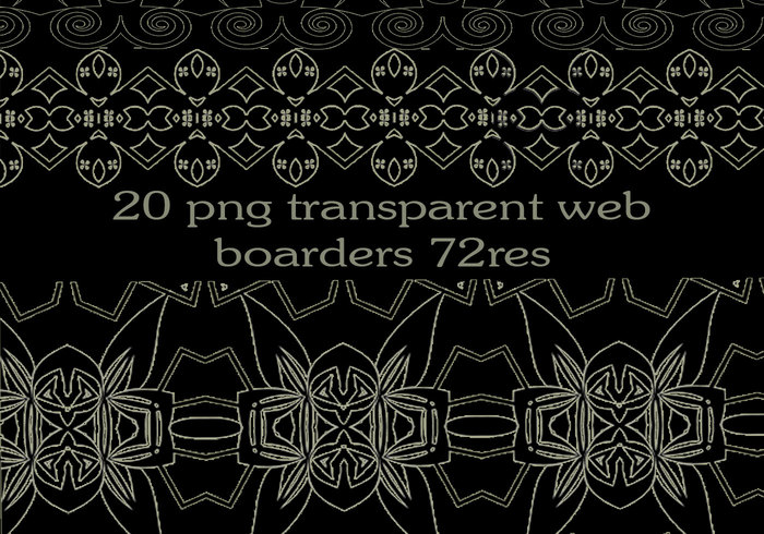 20 free png transparent web borders