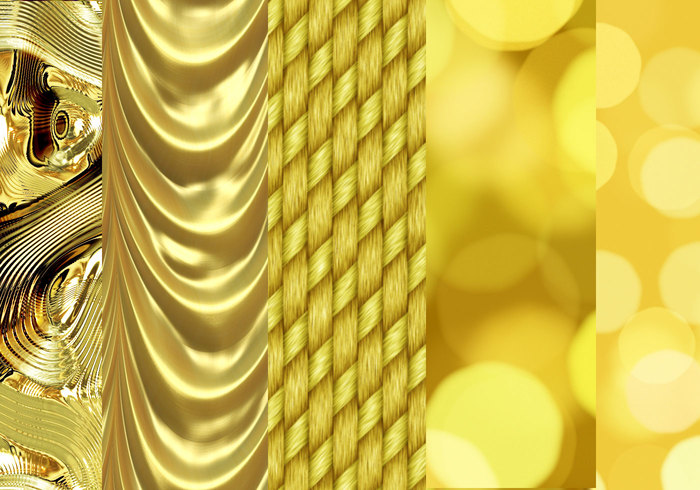 Gold, shining Patterns