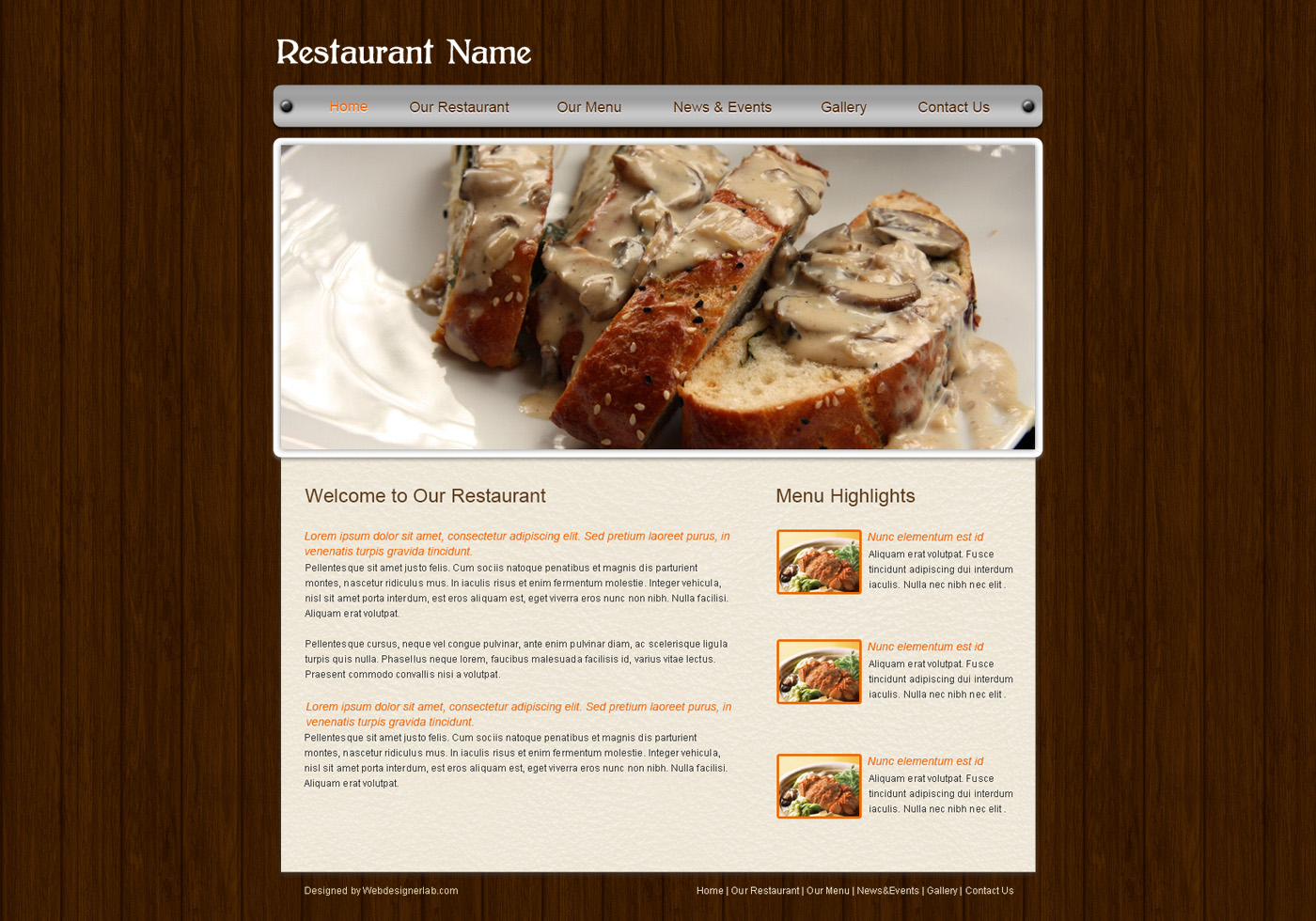 Website Template For Restaurants Free Photoshop Brushes At Brusheezy