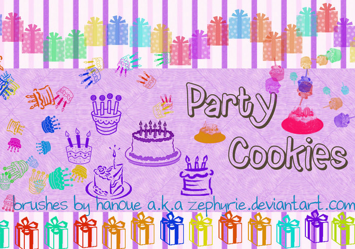 Party Cookies Brushes