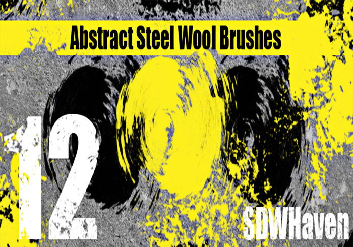 Abstract Steel Wool Brushes