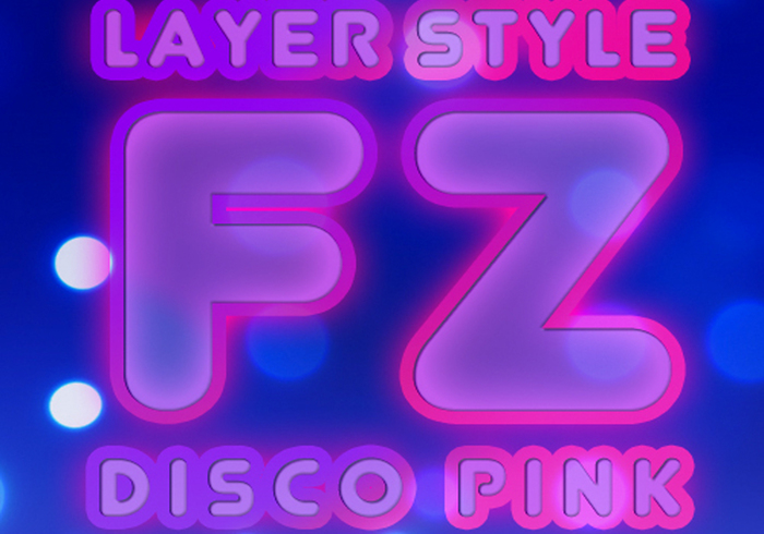 Disco Pink Layer Style