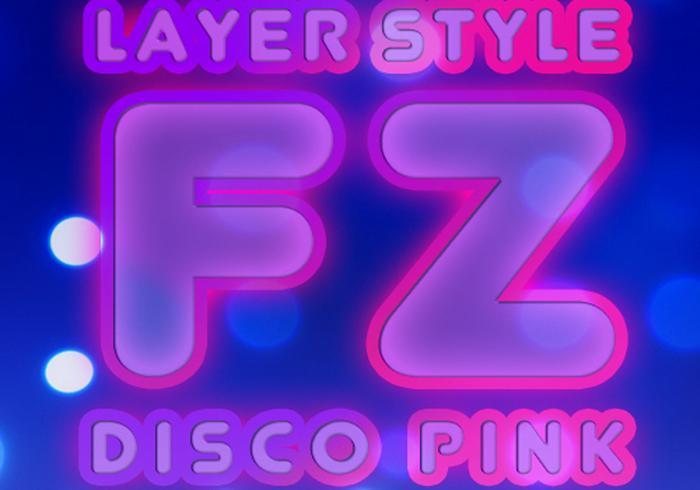 Estilo de camada de disco rosa