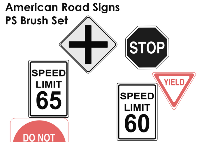 Road Signs Brushes