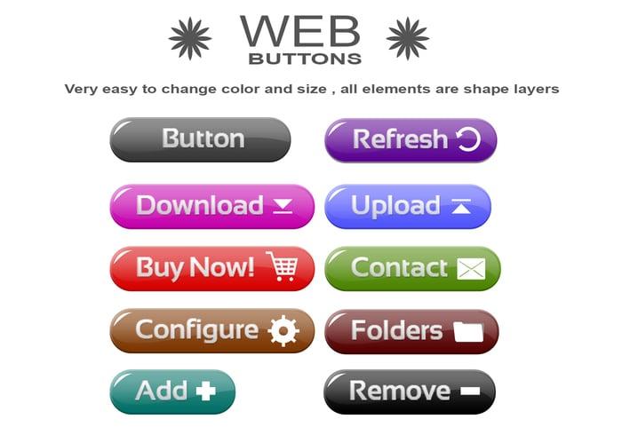 Botão web psds
