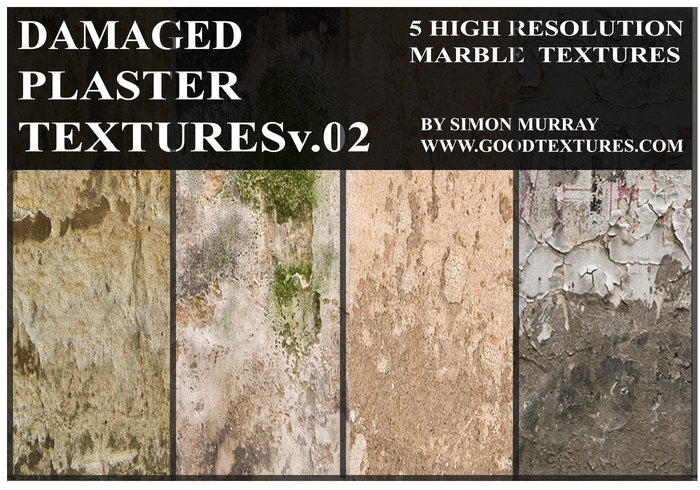 Damaged Plaster Textures Vol.01