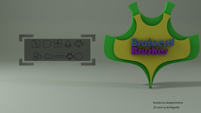 Brainerdbrushes - by Designuniverse & Mrvilgoo - Shapes Borstels