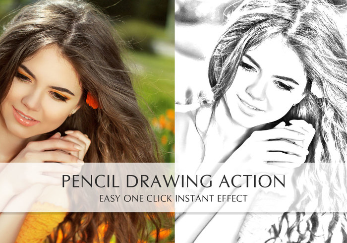 Pencil Drawing Action