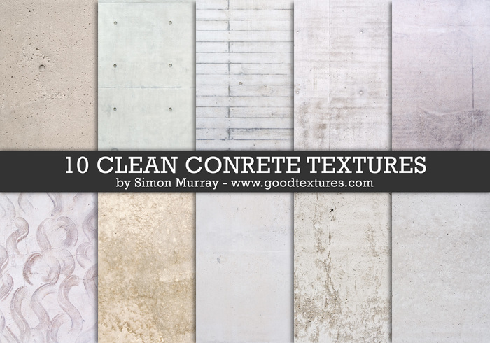 Textures de béton propres