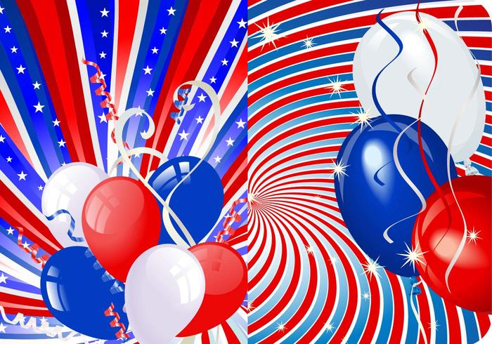 Stars, Stripes, and Balloons Photoshop Wallpaper Pack