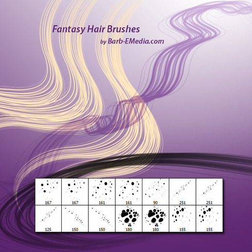 Cepillos de pelo de la fantasía