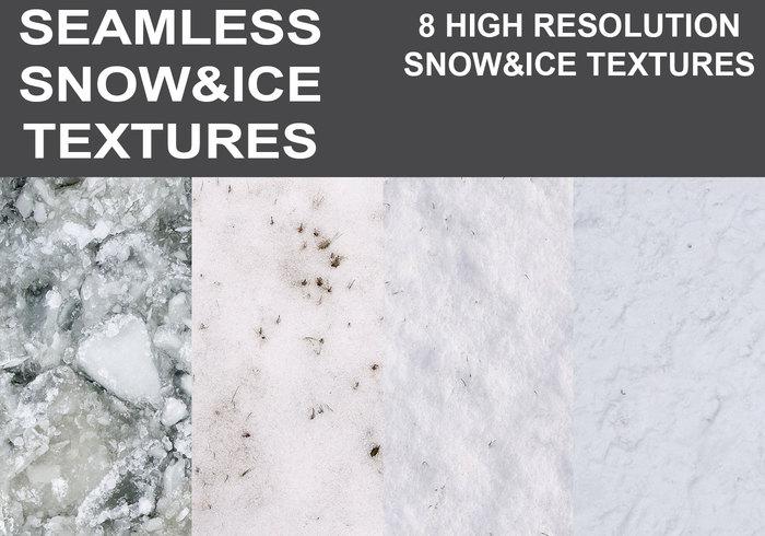 Naadloze Sneeuw & Ijs Texturen