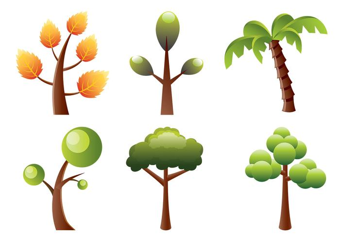 Stylized Trees Brush Pack