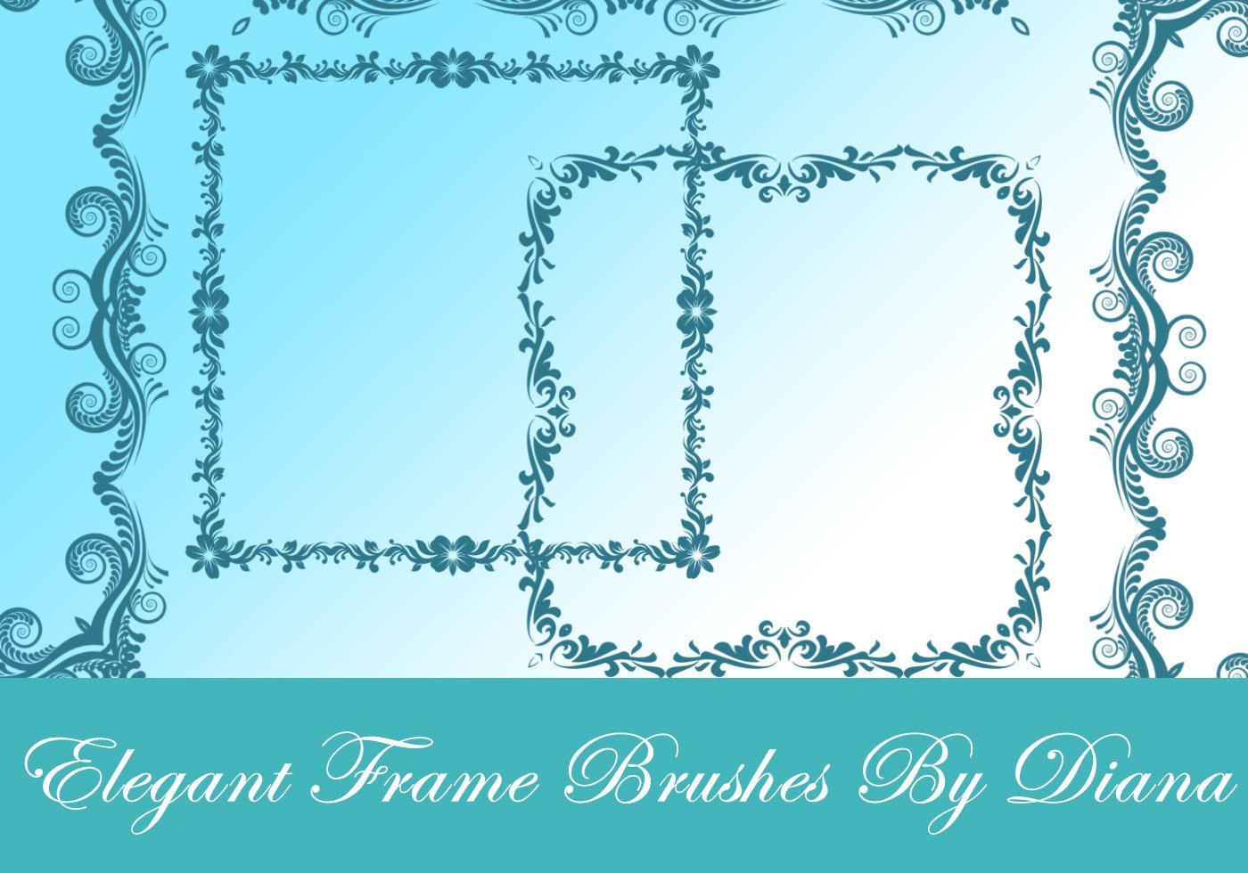 Elegante dekorative Rahmen - Kostenlose Photoshop-Pinsel bei Brusheezy!