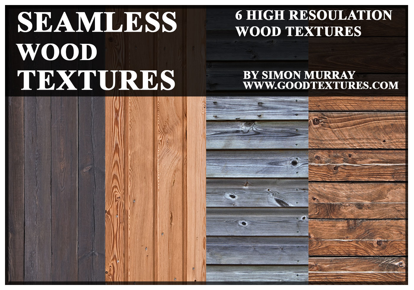 6 Seamless Wood Textures Free Photoshop Brushes At