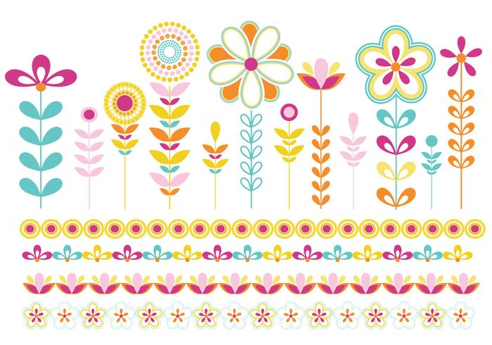 Flowers and Borders Brush Pack