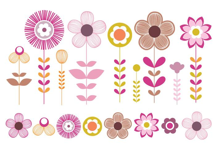 Pink and Gold Flowers Brush Pack