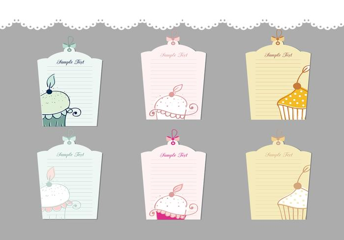Cupcake Label Pinsel Pack