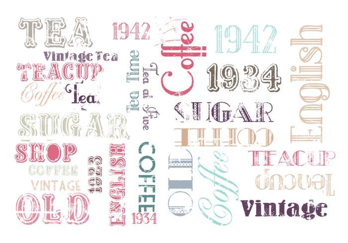 Ensemble vintage de pinceau à café et thé