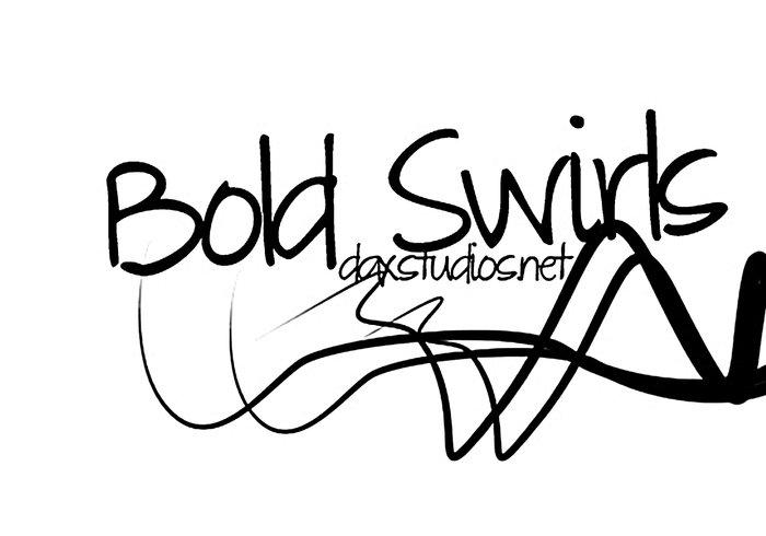 Bold Swirls Brushes #1 | DaxStudios.net