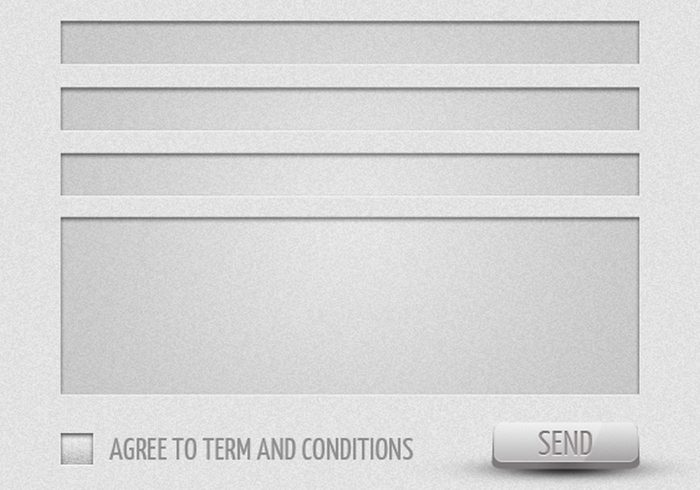 Ultra Modern Contact Form PSD