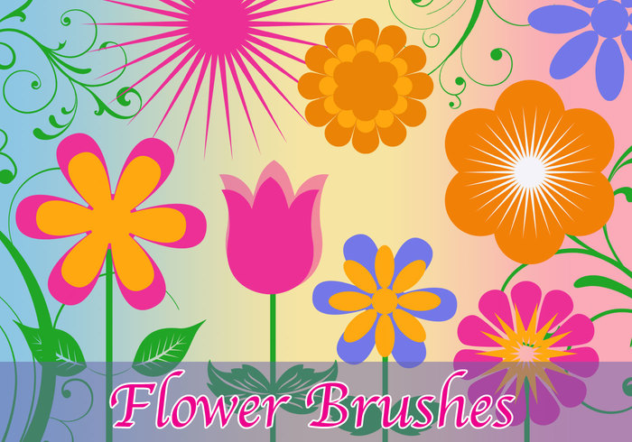 Vector Flower Brushes