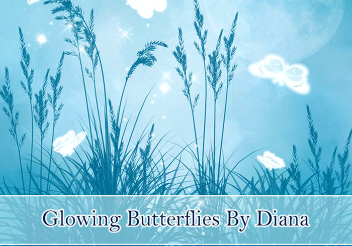 Glühende Schmetterlingsbürsten