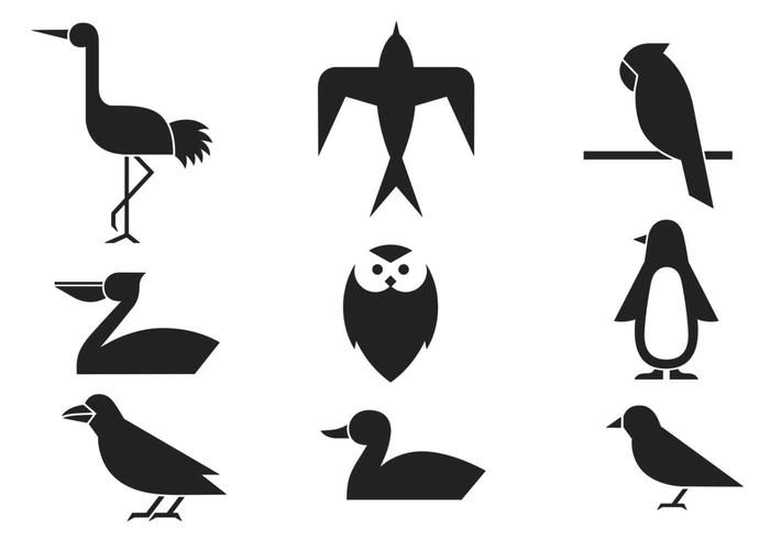Abstract Bird Brushes Pack