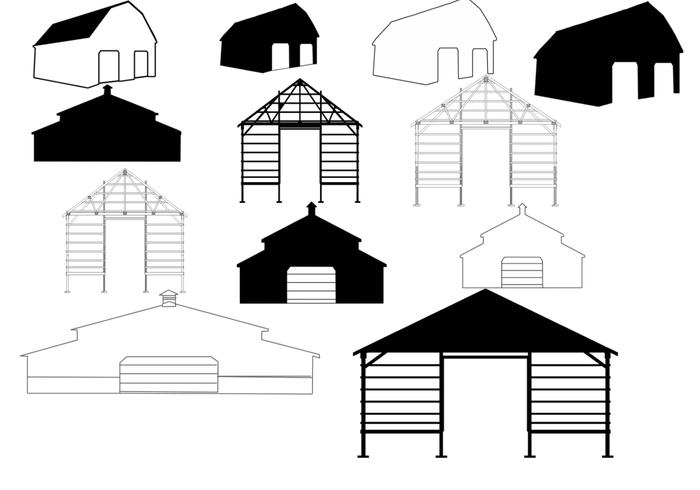 Free Pole Barn Photoshop Brushes