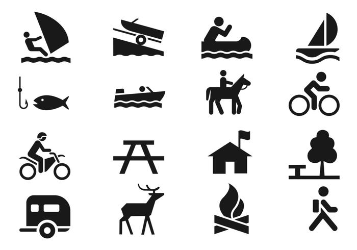 Recreation Icons Brush Pack