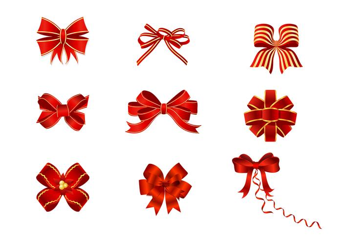 Red Bows Pinsel Pack
