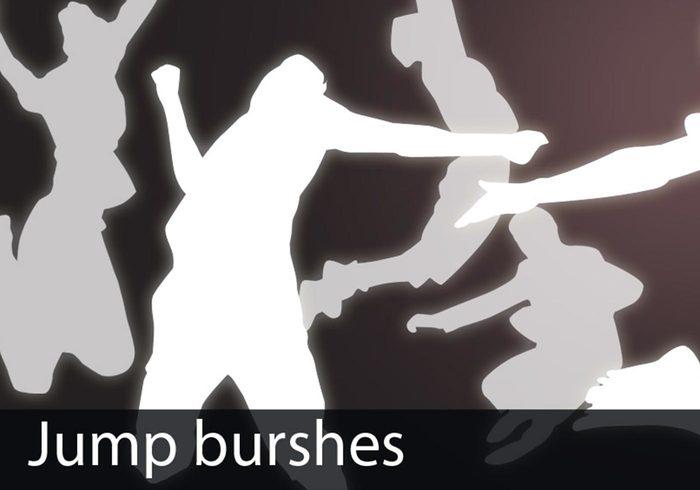 Brosses de saut grungy