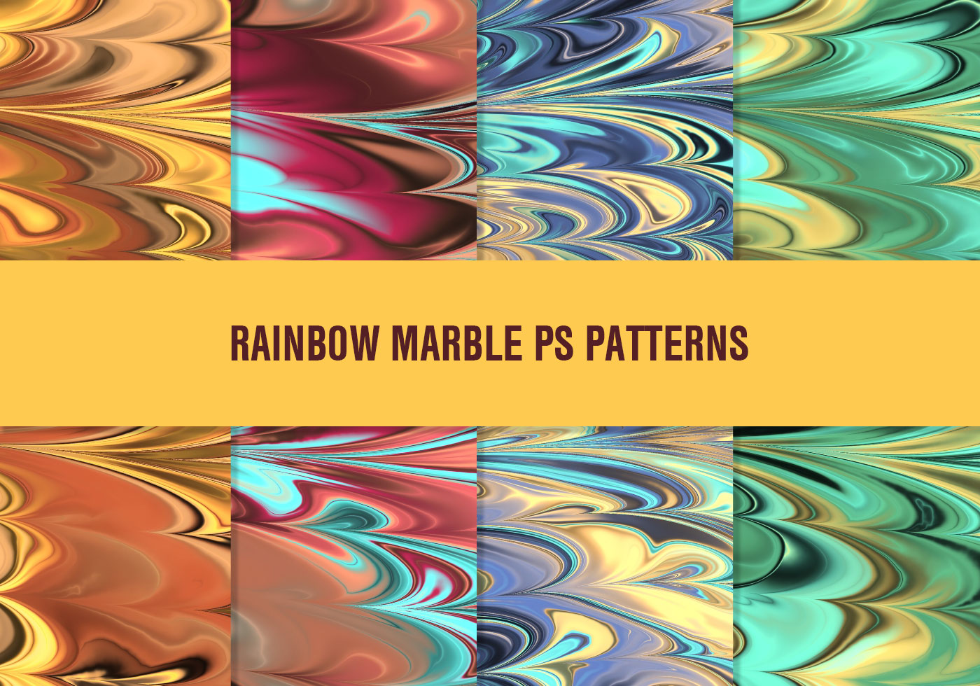 Colorful Rainbow Marble Patterns Free Photoshop Brushes