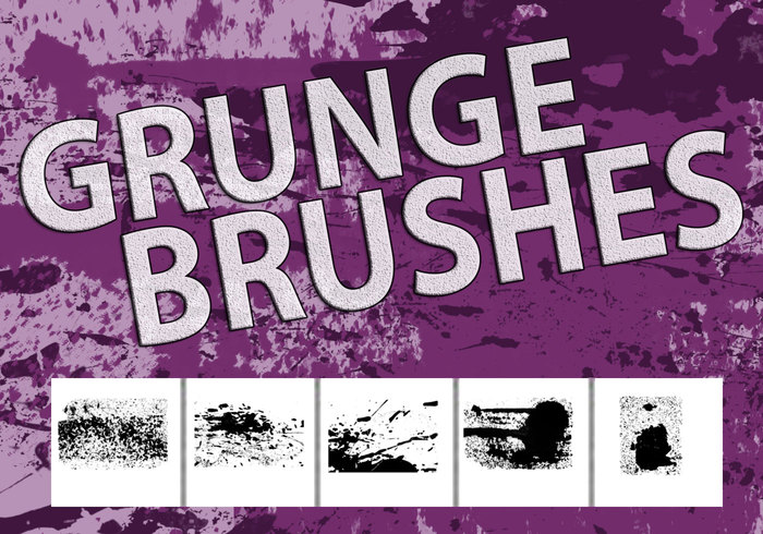 5 Hi-Res Grunge Brushes