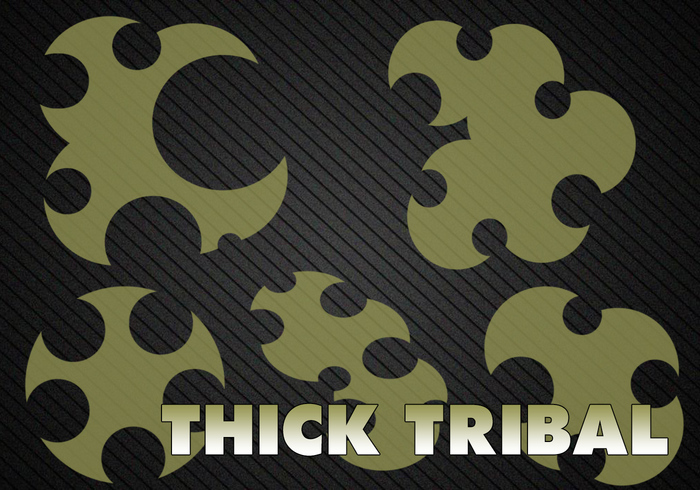 5 Thick Tribal Brushes