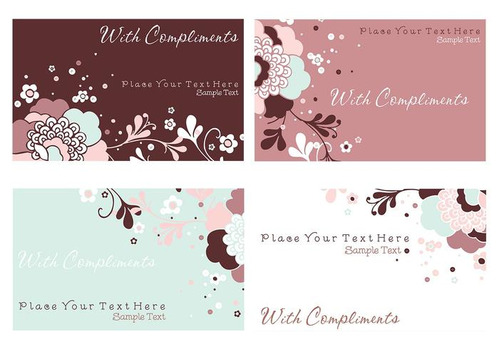 Floral Business Cards and Stationery PSD Pack