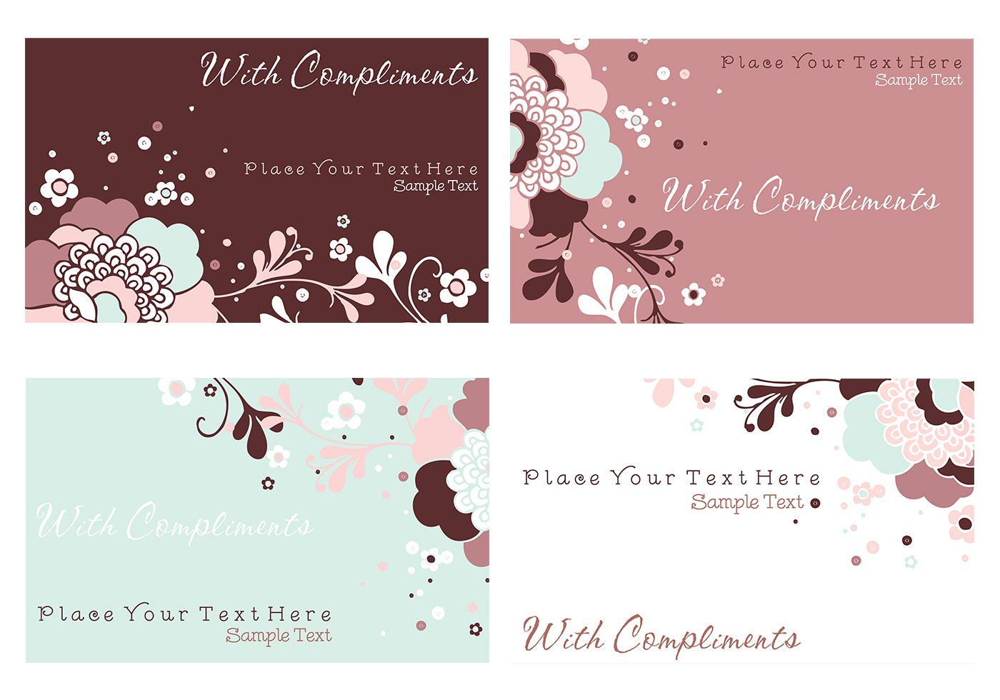 Floral Business Cards and Stationery PSD Pack - Free Photoshop ...