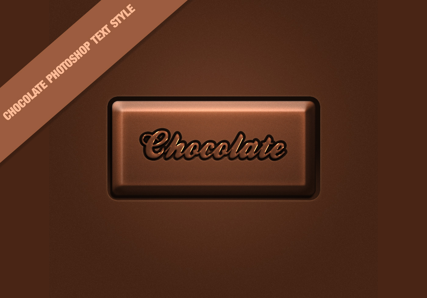 free chocolate text style effect
