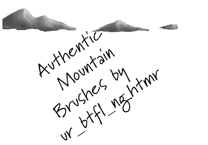 Authentic mountain brushes