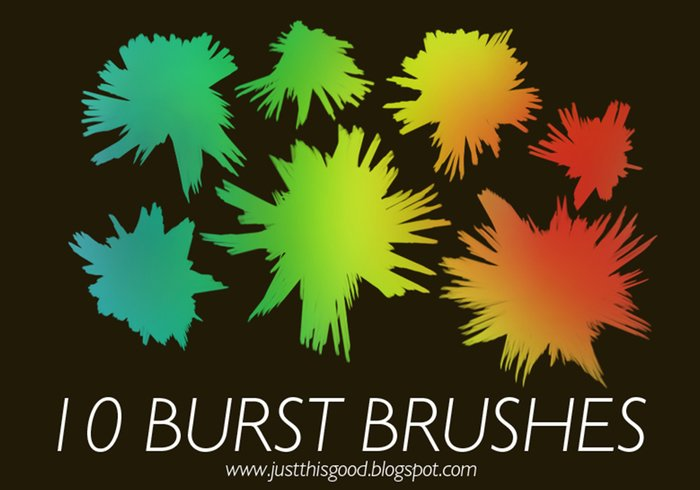10 Paint Burst Brushes