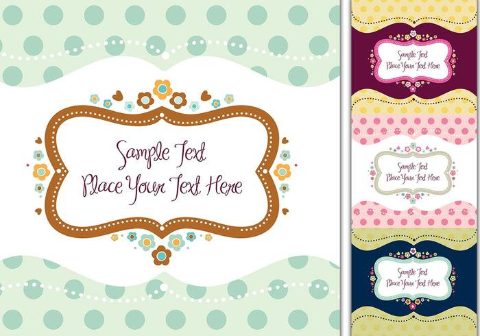 Romantic Label Backgrounds & Brush Pack
