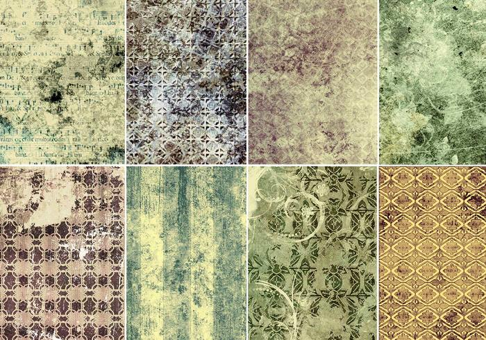 Pacote de texturas de Photoshop Vintage Patterned